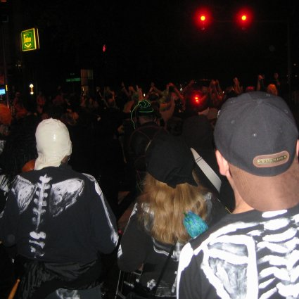 Trolloween parade through downtown Fremont
