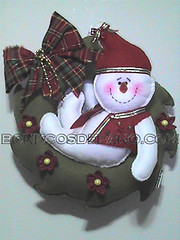 .:. Guirlanda Boneco de Neve .:. (Bonecos de Pano .Com) Tags: christmas natal snowman guirlanda fuxico feltro lao bonecodeneve