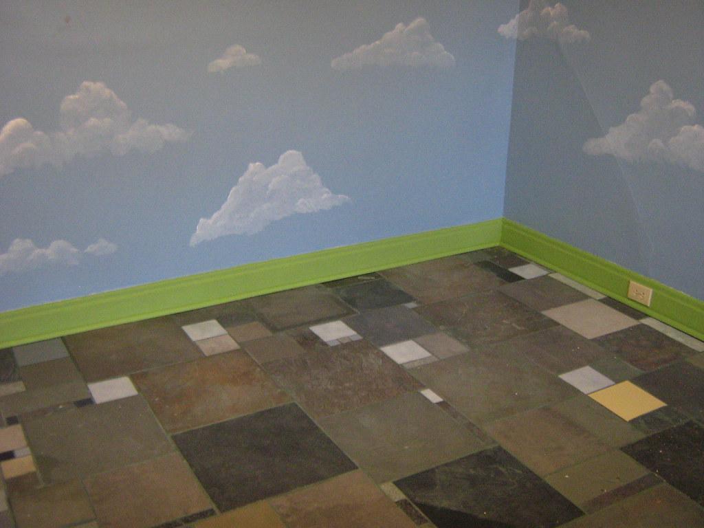 Bedroom floor tile mosaic