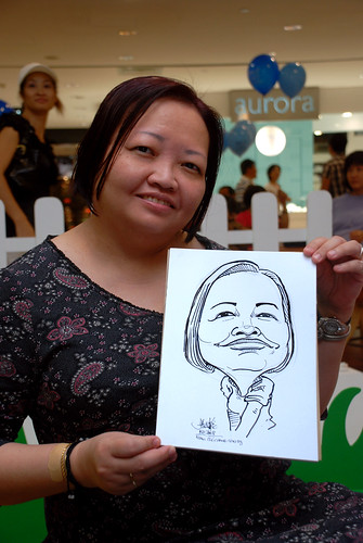 caricature live sketching for West Coast Plaza day 1 - 26