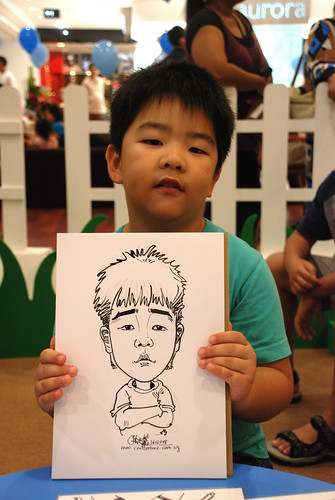 caricature live sketching for West Coast Plaza day 2 - 14