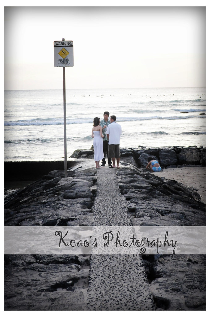 A vow renewal at Waikik beach