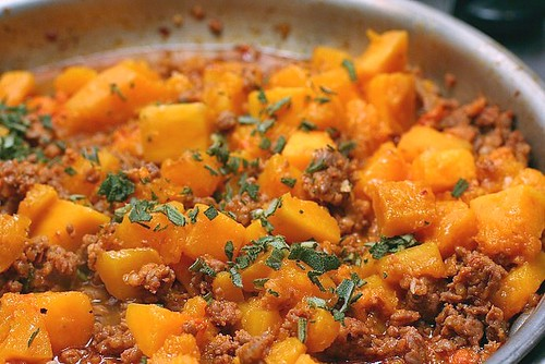 Penne with butternut squash, sausage and sage | A ...