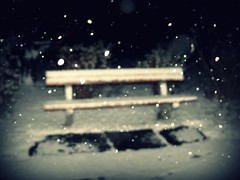 Take A Seat (Ande. {Blickfang Fotografie}) Tags: white snow night bench winterautumn