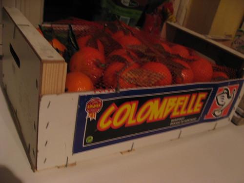 Le cageot de mandarines