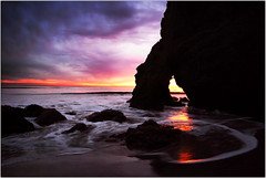 Purple Infinity (Extra Medium) Tags: ocean sunset shadow reflection beach scenery tide malibu naturalarch 150000views nothdr elmatadorstatebeach 2010calendar vcfair09