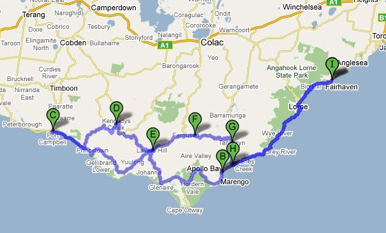 Road Map Victoria Australia.Road Trip The Great Ocean Roadtrip John Walton Aviation
