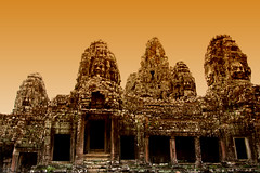Bayon Face Towers (J.^2) Tags: canon temple cambodia siemreap j2 bayon jiangjiang    khmersmile 400d facetowers jsquare