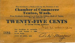 Tenino Wooden Money front