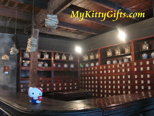 Hello Kitty in Chinese Herbalist Shop of Wu Zhen