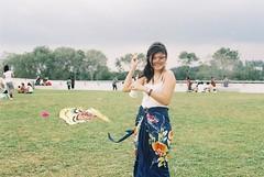Kite (seventeen in the 70s) Tags: kite film field marina 35mm canon butterfly wind ef barrage batik marinabarrage
