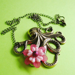 Cherry Blossom Oscar (Marilyn P Sushi) Tags: pink flower necklace octopus cherryblossom etsy dawanda pulpsushi