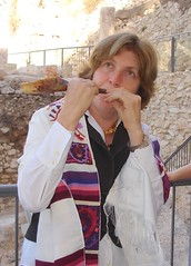 Anat blows the shofar