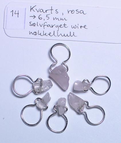 Rosenkvarts, 6,5mm, sølv, nøkkelhull   IMG_0707