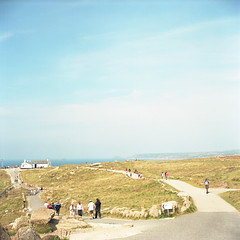 the road - Landsend - (Momota.M) Tags: road uk 6x6 film rolleiflex 1201 ektar momotam