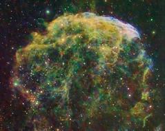 Jellyfish Nebula (IC443) Crop (kappacygni) Tags: jellyfish nebula supernova phd gemini deepspace celestron ed80 baader nebulosity skywatcher ic443 narrowband starlightxpress eq6 supernovaremnant jellyfishnebula qhy5 mn190 sxvrh18 astro:gmt=20110108t2230 astro:subject=ic443