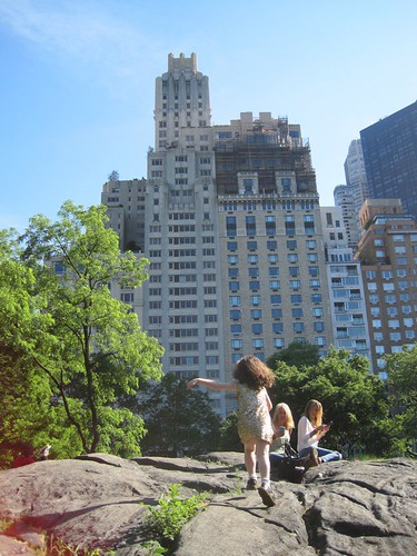 Running Over Rocks in Central Park