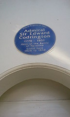 Photo of Edward Codrington blue plaque