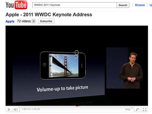 """iOS5 funkció - fénykép készítés a """"Hangerő fel"""" gombbal"""