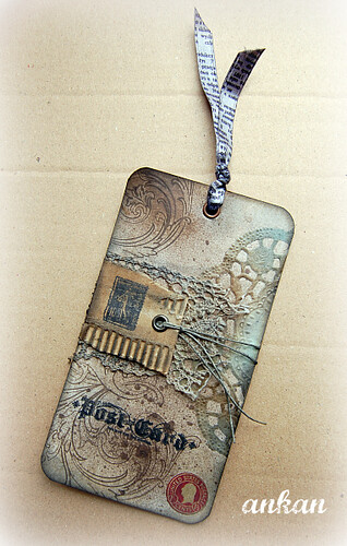 tag pocztowy - craft artwork
