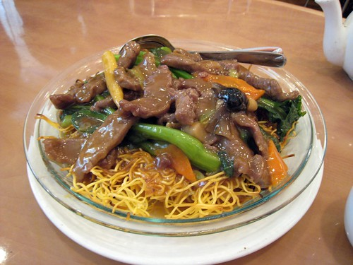 Beef pan-fried noodles, Amazing 66