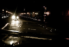 at a traffic light . L1063277 (Susan NYC) Tags: reflection night reflections m8 carheadlights leicam8 reflectionsmirrors