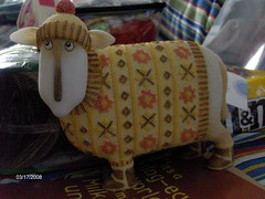 How cute is a sheep in a sweater?