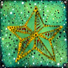 Sailor Style Enamel Wall Piece - Vintage Tattoo Inspired Nautical Star Detail.