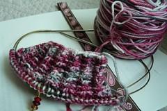 Linen Stitch sock cuff
