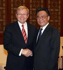 Kevin Rudd, Wu Bangguo