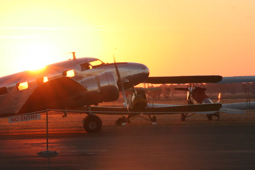 Lockheed 12 at Sunset