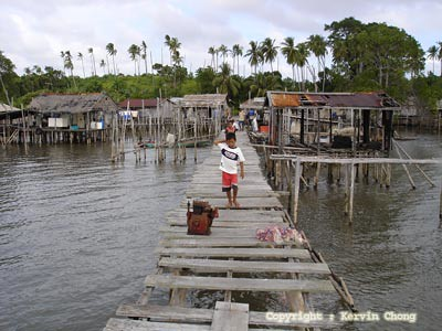 A jetty at Pulau Banggi