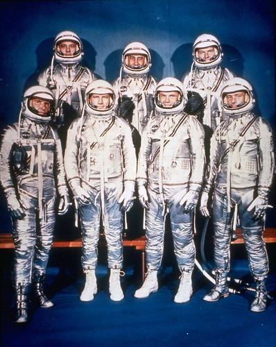 Seven Mercury astronauts