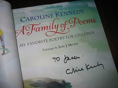 My book signed by Caroline Kennedy. (10/17/2005)