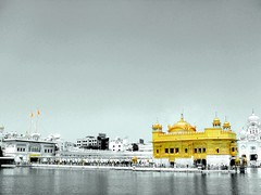 Darbar Sahib (Golden Temple), Amritsar, Punjab, India ('HD' nature) Tags: desktop wallpaper sky blackandwhite bw india color colour reflection water colors yellow religious mirror golden blackwhite colorful colours image widescreen religion wide shade highdefinition hd sikh hq punjab amritsar gurudwara sikhism goldentemple vaisakhi baisakhi harmandirsahib sarovar darbarsahib religiousplace sikhreligiousplace