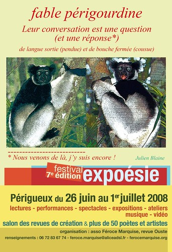 affiche expoesie 2008 (Julien Blaine)