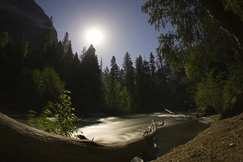 Yosemite Full Moon Stream 1
