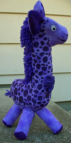 Purple giraffe profile