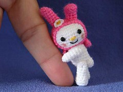 Melody (MUFFA Miniatures) Tags: bear cute bunny miniature funny crochet amigurumi dollhouse mymelody muffa cdhm threadminiature