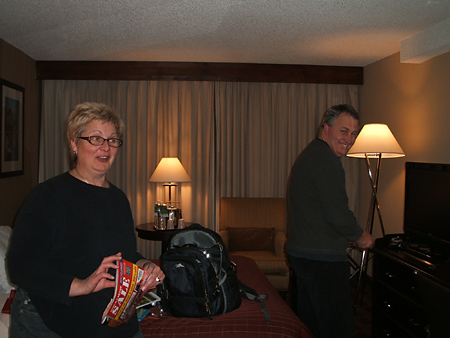 Arriving at our hotel in the wee hours of the morning (Denver time)