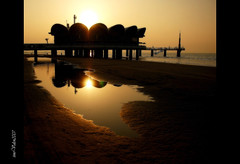 Lignano (UD) Italia, symbol of (orton) (tino.valen) Tags: morning beach italia colours lignano goldenvisions