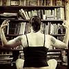 Balance of Powers / Day 325 Year 2 (sadandbeautiful (Sarah)) Tags: portrait woman selfportrait texture me female self pig iggy books tattoos yeartwo bookcase passthepig ttt 365days selfiesquared day325y2 dudeihaveonlyfortydaysleftofthissecondyear ohwaitfortyoneleapyear