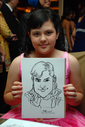 caricature live sketching for wedding dinner 120708  - 14