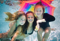 three girls (david_CD) Tags: family girls vacation portrait uw water pool kids sisters swim umbrella children fun happy rainbow underwater dive siblings losangles childish lightroom lightonkids