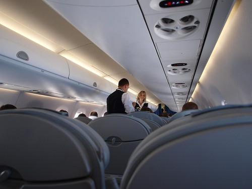 Hot Blonde LOT Stewardess!