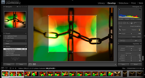 Lightroom 2.0 Allows Cropped Vignetting