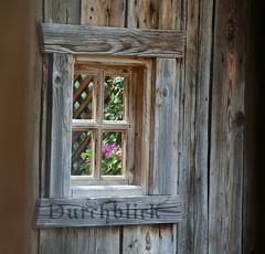 Durchblick (jankaMaren) Tags: tirol alt fenster natur htte blumen berge alm holz wandern blockhaus witterung