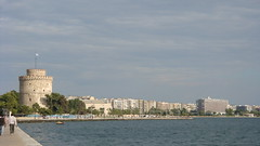 (Alexanyan) Tags: city sea white tower greek bay boat seaside gulf aegean hellas greece thessaloniki grece salonica ellas hellenic lefkos pyrgos 5photosaday