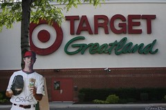 Cole has some shopping to do... (Harpo42) Tags: cutout pose logo fake cardboard target goof standup lansdale greatland colehamels