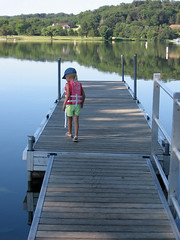 Lindsey checking out the dock.